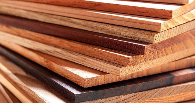 沢山の木材