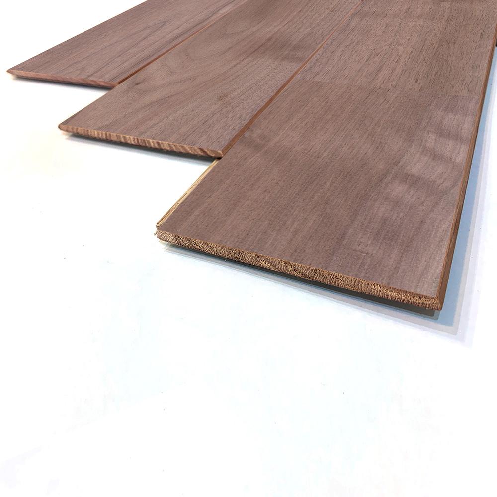 薄型 壁床兼用 ブラックウォルナット ユニ 無垢フローリング【プレミアム】無塗装 6×90×910mm