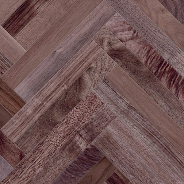 クルミ(アメリカン・ブラック・ウォルナット) ヘリンボーン 無垢フローリング【ナチュラル】無塗装 15×60×420mm