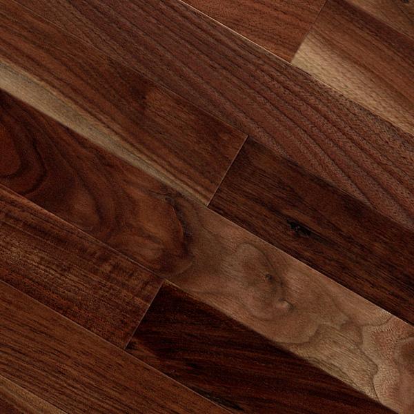 床暖房対応クルミ(アメリカン・ブラック・ウォルナット) 一枚もの 複合フローリング【ラスティック】オイル仕上げ(透明つや消し) 12×120×909mm