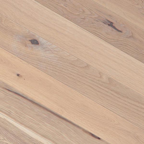 オーク(北海道産ナラ) 一枚もの 無垢フローリング【ラスティック】無塗装 15×120×1820mm