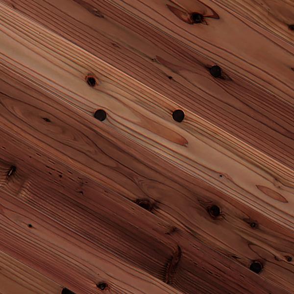 エイジングスギ / 杉(奈良県吉野杉) 一枚もの 無垢フローリング【普及品(赤)】オイル仕上げ(透明つや消し) 15×110×1820mm