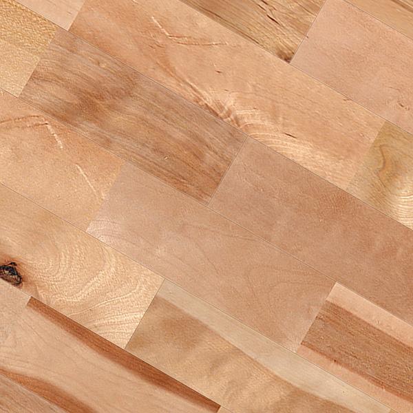 バーチ(カバ / 樺) ユニ 無垢フローリング【ラスティック】オイル仕上げ(透明つや消し) 15×120×1820mm