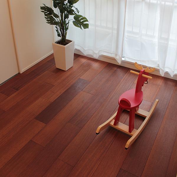 メルバウ(太平洋鉄木) 一枚もの 無垢フローリング【プレミアム】施工事例