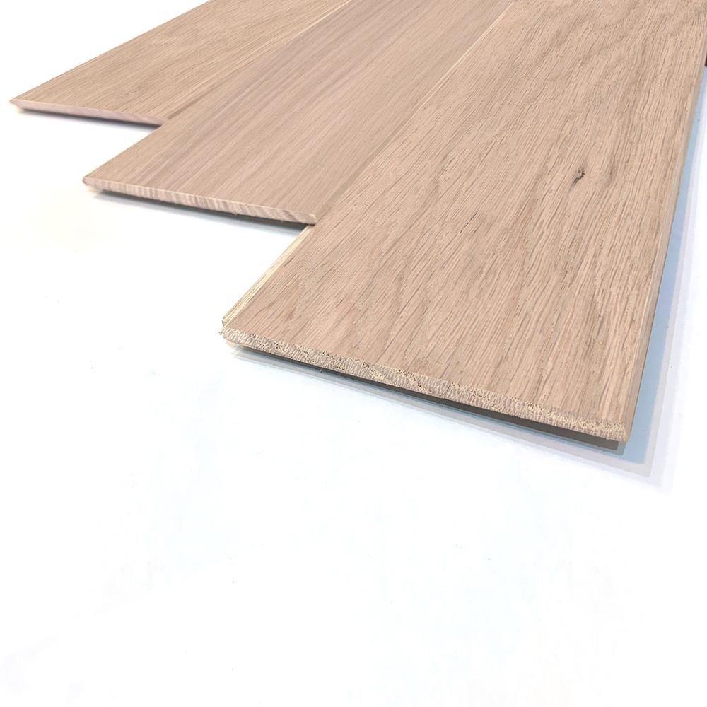 薄型 壁床兼用 オーク(ナラ / 楢) 一枚もの 無垢フローリング【ナチュラル】無塗装 6×90×910mm
