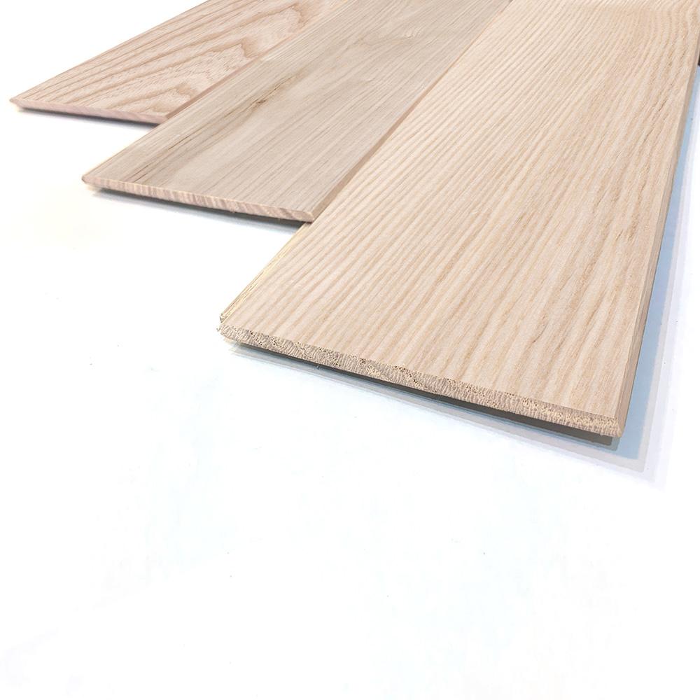 薄型 壁床兼用 ホワイトアッシュ 一枚もの 無垢フローリング【ナチュラル】無塗装 6×90×910mm
