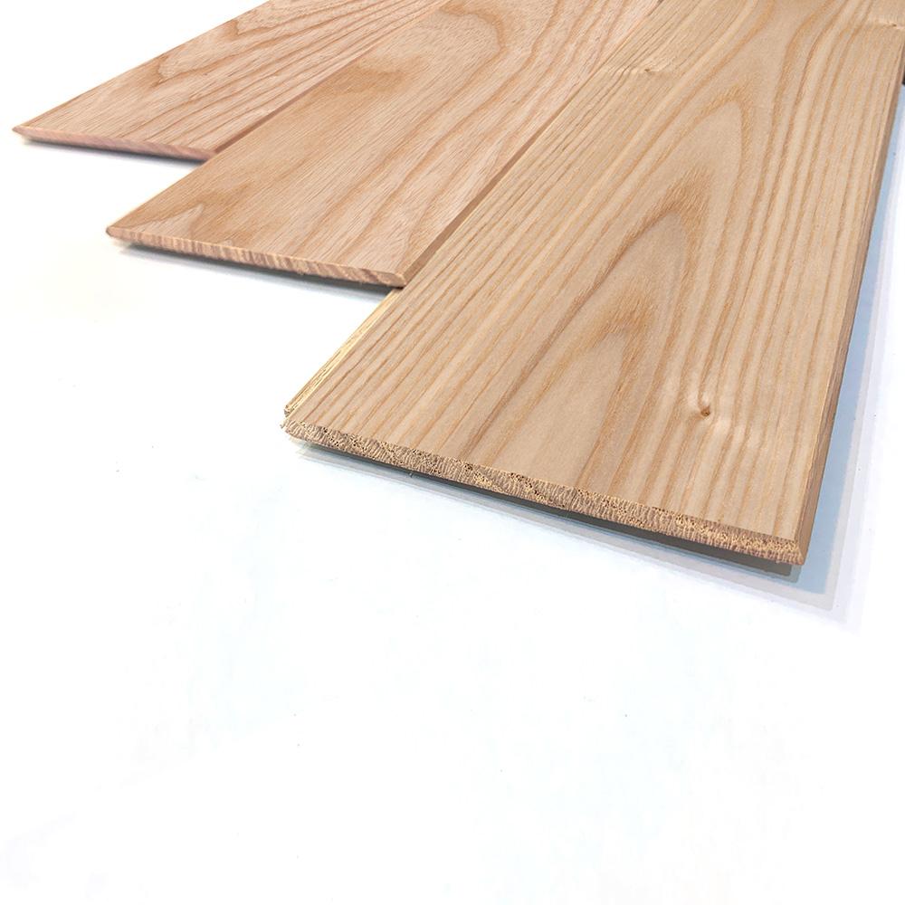 薄型 壁床兼用 ホワイトアッシュ 一枚もの 無垢フローリング【ナチュラル】自然塗料(透明つや消しオイル仕上げ) 6×90×910mm