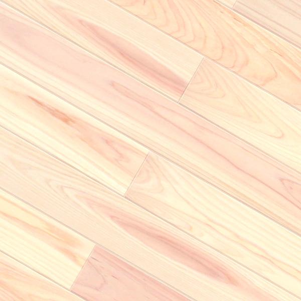 ヒノキ / 桧(奈良県吉野桧) 一枚もの 無垢フローリング【無節(紅白)】無塗装 15×108×2000mm