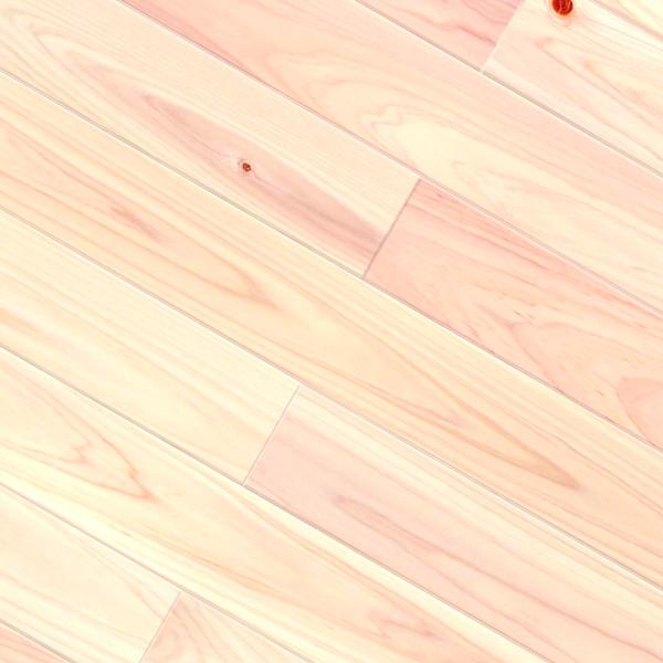 床暖房対応ヒノキ / 桧(三重県産桧) 一枚もの 無垢フローリング【上小節(紅白)】オイル仕上げ(オスモクリアー) 15×105×1820mm