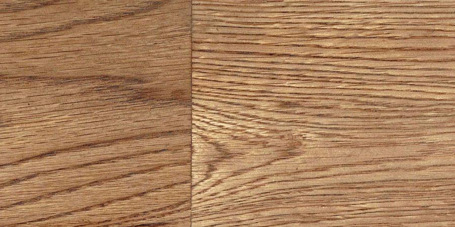 オークの無垢フローリング × W-12 「ミディアムウォルナット」