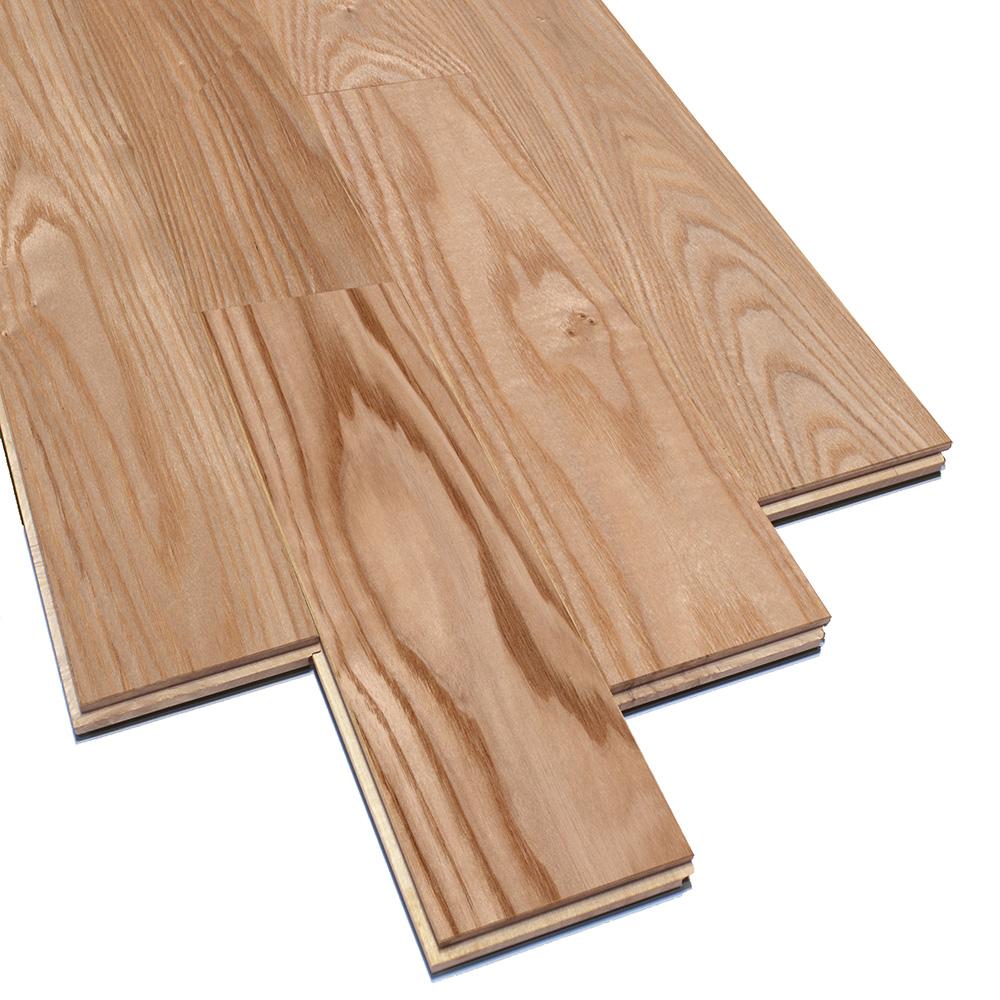 床暖房対応 アッシュ(タモ) ユニ 無垢フローリング【プレミアム】自然塗料(透明つや消しオイル仕上げ) 15×75×1818mm